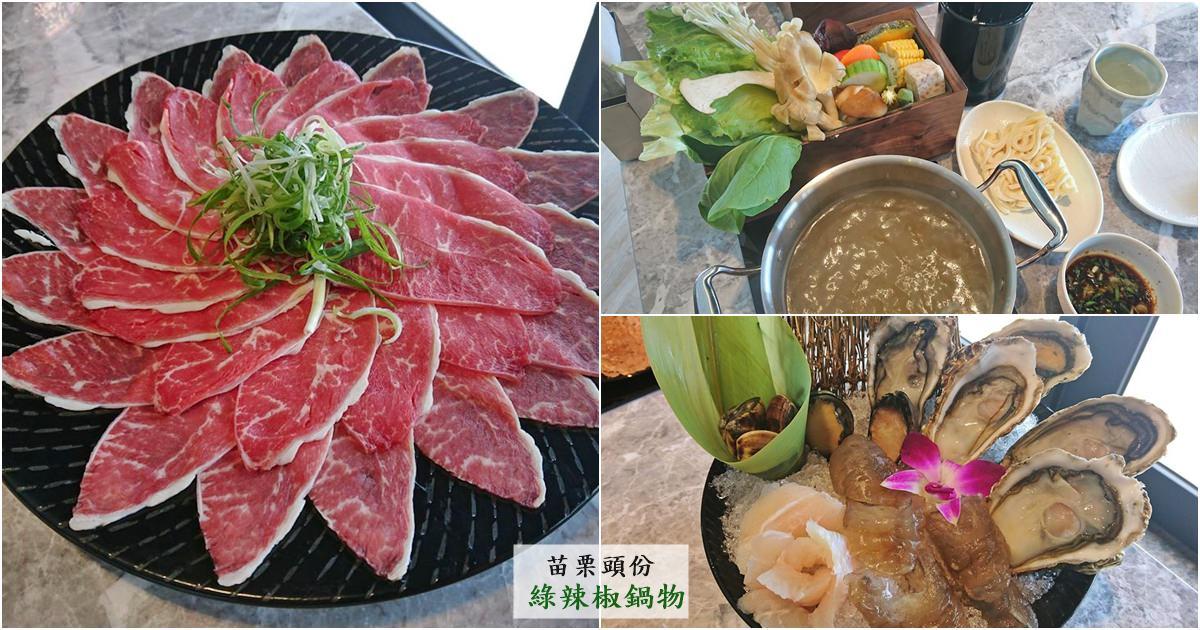苗栗頭份美食|『綠辣椒鍋物』高單價的套餐式火鍋-提供舒適的用餐環境及新鮮食材!