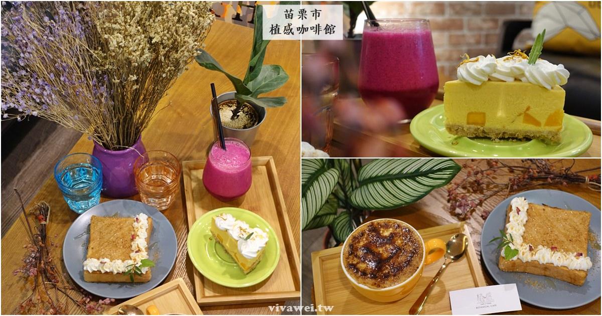 苗栗市美食|『植感咖啡館』滿滿綠植點綴的下午茶咖啡廳-每日供應不同的手作甜點(苗栗火車站)